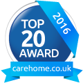 Top 20 Care Home awards logo