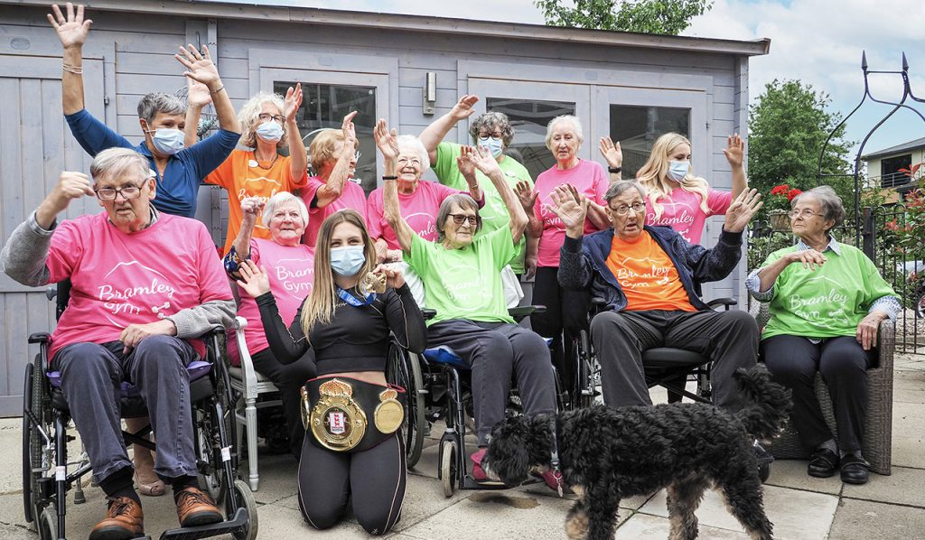 World boxing medallist Demie-Jade opens Bramley Court's expanded gym
